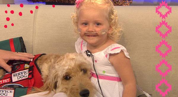 How a Little Girl's Dog is Helping Her to Breathe